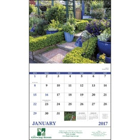 Garden Walk Stapled Calendar for Promotion