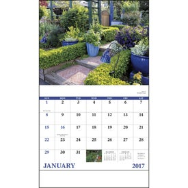 Garden Walk Stapled Calendar with Your Logo
