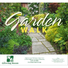 Promotional Garden Walk Stapled Calendar