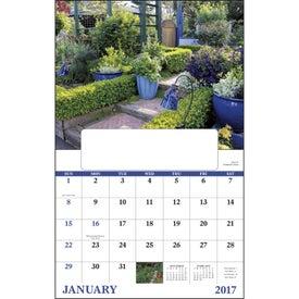 Imprinted Garden Walk Window Calendar