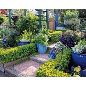 Monogrammed Garden Walk Window Calendar