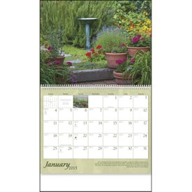 Gardens Appointment Calendar Printed with Your Logo
