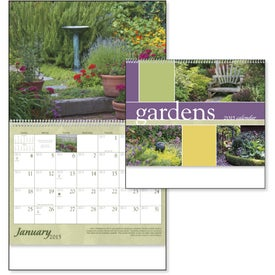 Gardens Appointment Calendar Branded with Your Logo