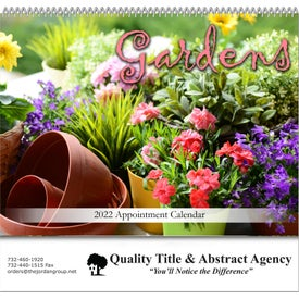 Gardens Spiral Bound Calendar for Your Company