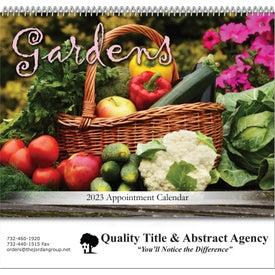 Gardens Spiral Bound Calendar