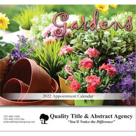Gardens Stapled Wall Calendar with Your Logo