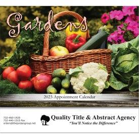 Gardens Stapled Wall Calendar with Your Logo