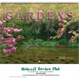 Gardens Wall Calendar for Promotion