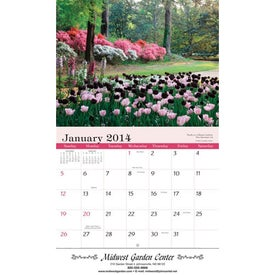 Gardens Wall Calendar for Customization