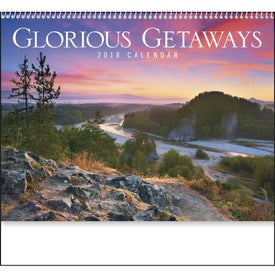 Imprinted Glorious Getaways Spiral Calendar