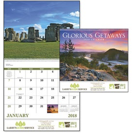 Customized Glorious Getaways Spiral Calendar