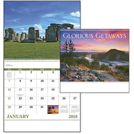 Branded Glorious Getaways Spiral Calendar