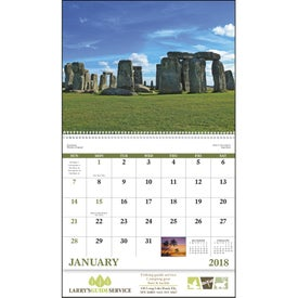 Glorious Getaways Spiral Calendar for Advertising