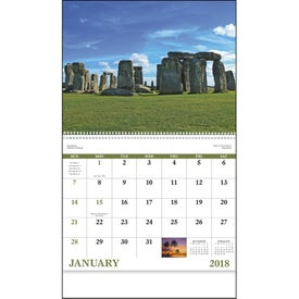 Monogrammed Glorious Getaways Spiral Calendar