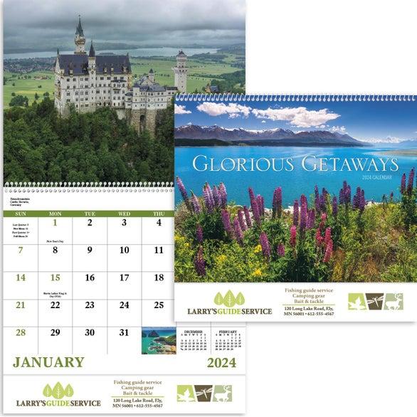Glorious Getaways Spiral Calendar (2019) ... & Custom Wall Calendars - page 4 of 4 | Quality Logo Products Inc.