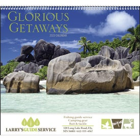 Glorious Getaways Spiral Calendar Imprinted with Your Logo