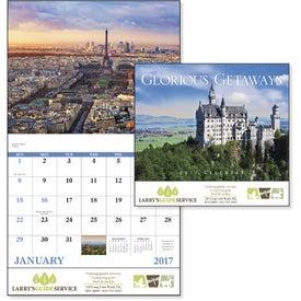 Promotional Glorious Getaways Stapled Calendar