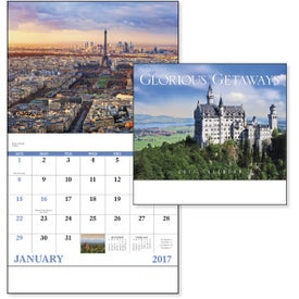 Monogrammed Glorious Getaways Stapled Calendar