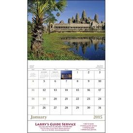 Imprinted Glorious Getaways Stapled Calendar