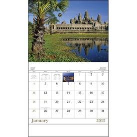 Printed Glorious Getaways Stapled Calendar
