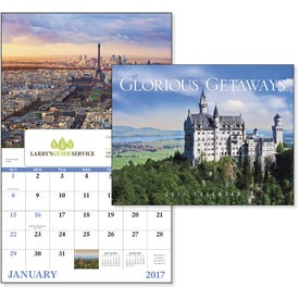 Glorious Getaways Window Calendar Branded with Your Logo