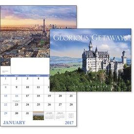 Imprinted Glorious Getaways Window Calendar