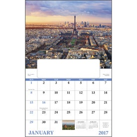 Glorious Getaways Window Calendar Imprinted with Your Logo
