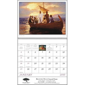 Branded God's Gift Calendar with Funeral Form