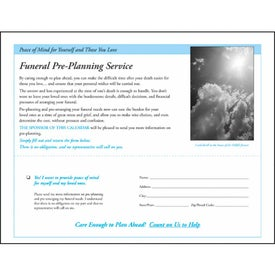 God's Gift Calendar with Funeral Form for Your Company