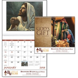 Imprinted God's Gift Calendar with Funeral Form