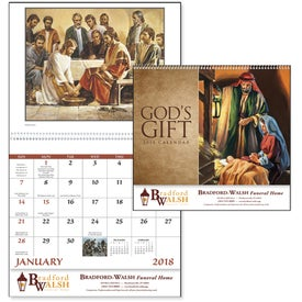 Customized God's Gift Calendar - No Funeral Form