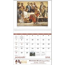 Imprinted God's Gift Calendar - No Funeral Form