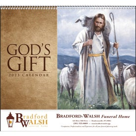 God's Gift Calendar - No Funeral Form Printed with Your Logo