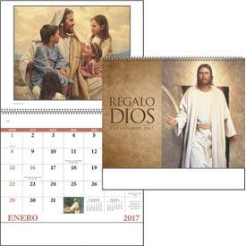 Monogrammed God's Gift w/o Funeral Preplan Calendar