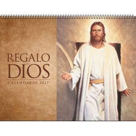 Monogrammed Gods Gift w/ Funeral Sheet Calendar