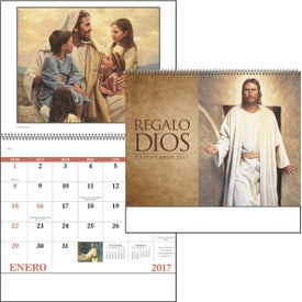 Gods Gift w/ Funeral Sheet Calendar Imprinted with Your Logo