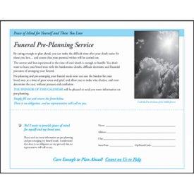 Customized Gods Gift w/ Funeral Sheet Calendar