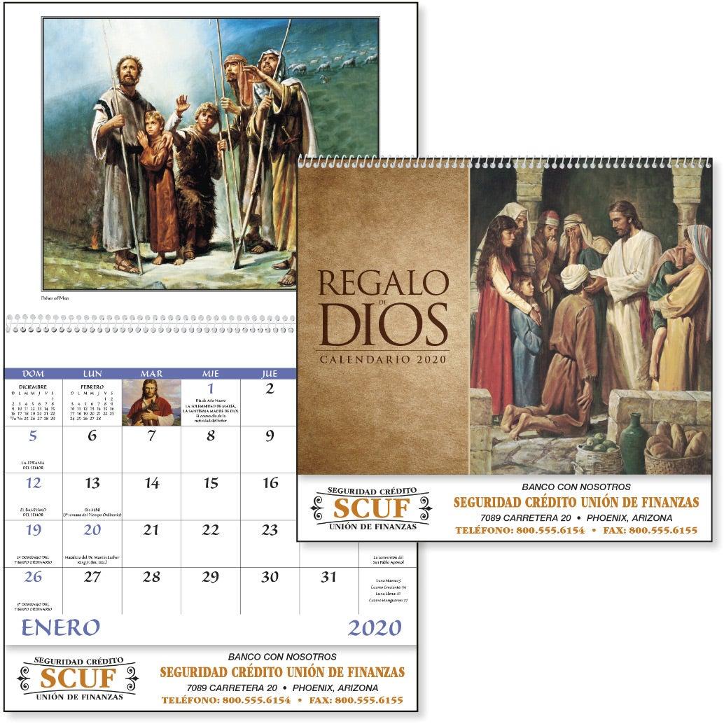Gods Gift with Funeral Sheet Calendar (Spanish, 2020)