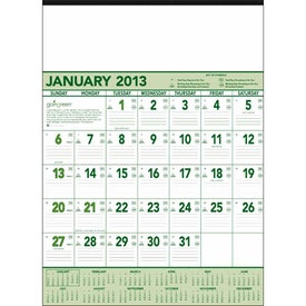 Custom Going Green Contractor Calendar