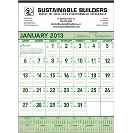 Company Going Green Contractor Calendar
