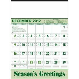Monogrammed Going Green Contractor Calendar