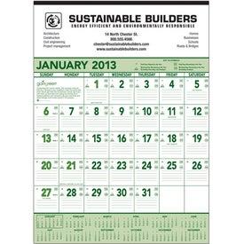 Company Going Green Contractor Calendar