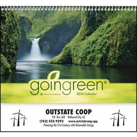 goingreen Pocket Calendar with Your Slogan
