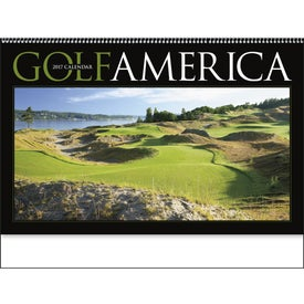 Golf America Executive Calendar Printed with Your Logo