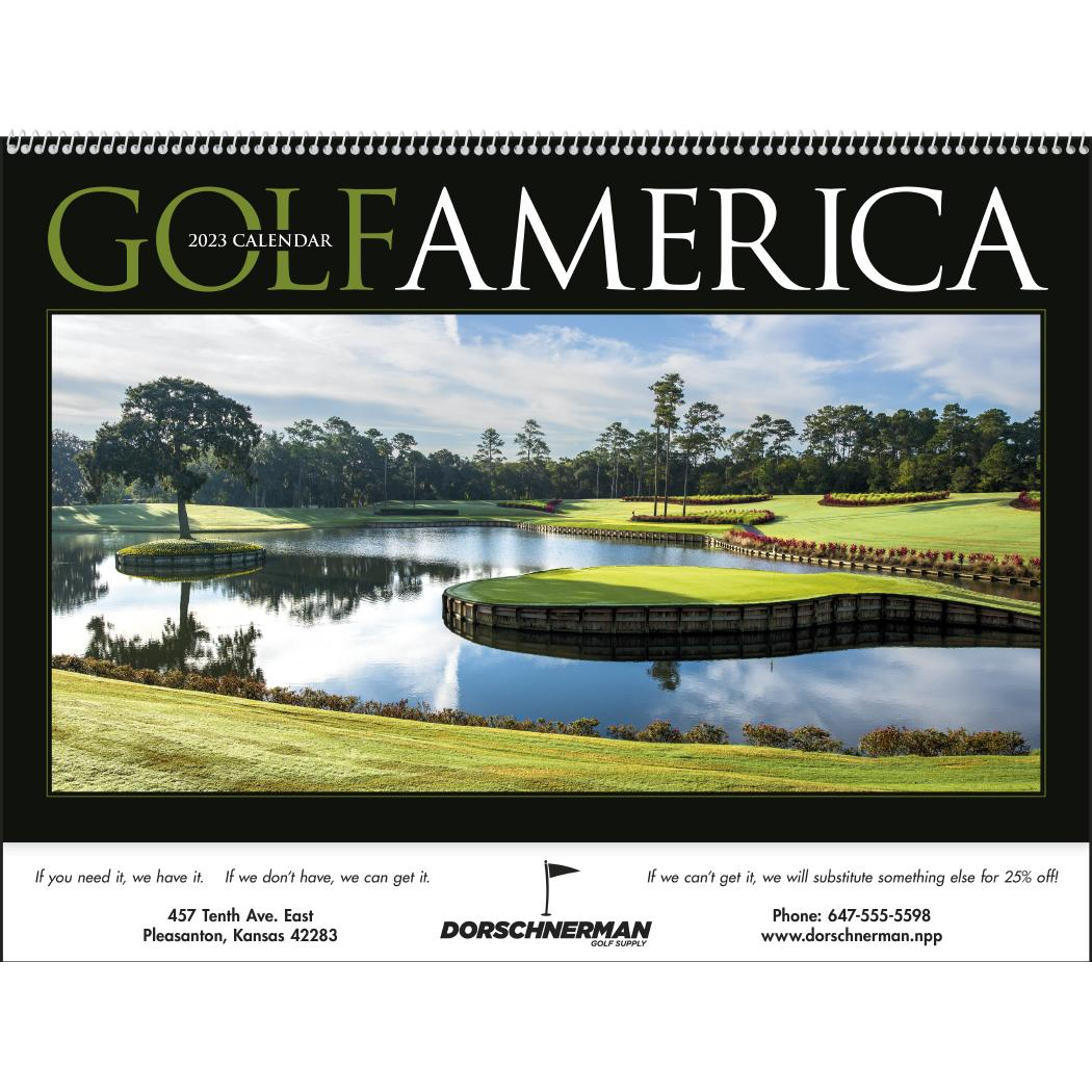 Golf America Executive Calendar (2020)