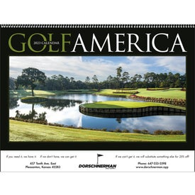 Golf America Executive Calendar with Your Logo