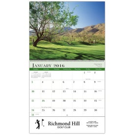 Promotional Golf Wall Calendar