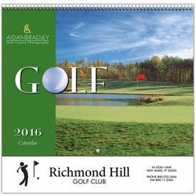 Golf Wall Calendar (Spiral)