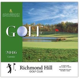Golf Wall Calendar (Stapled)