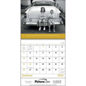 Good Old Days - Spiral Calendar with Your Slogan